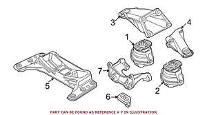 For BMW Genuine Manual Transmission Mount Bracket Rear