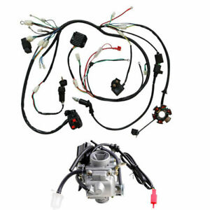 GY6 150CC ATV Go kart WIRE HARNESS ASSEMBLY Magneto CDI