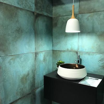 cut tile sample verde copper oxide metallic porcelain wall floor tiles ebay