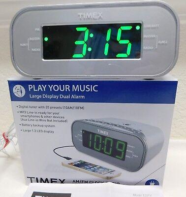 Timex Fm Am Digital Alarm Clock Radio