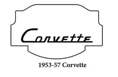 1953 1957 Chevy Corvette Trunk Rubber Floor Mat Cover w/ G