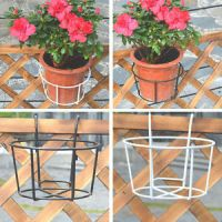 Garden Fence Metal Plant Pot Holders Easy Fill Black White