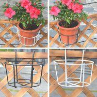 Garden Fence Metal Plant Pot Holders Easy Fill Black White ...