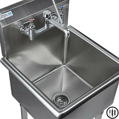 stainless steel mop sink service sink faucet and mop accesories 18 x 18 ebay