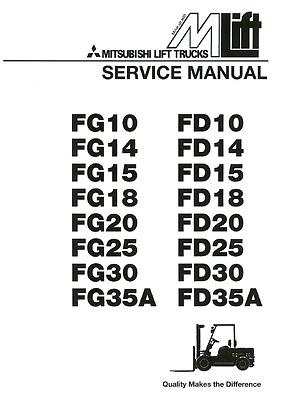 BEST Mitsubishi Forklift FG10 FD10 FG14 FD14 SERVICE