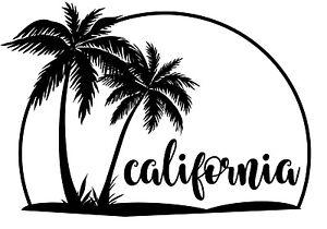 Download Custom Vinyl Car Decal California Love State Roots America ...