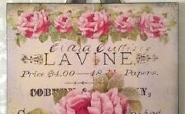 Vintage Paris Shabby Roses Sign Plaque Wall Decor French