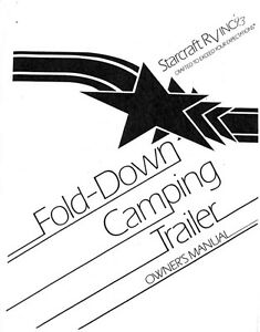 1993 Starcraft Folding Camping Popup Trailer Owners Manual