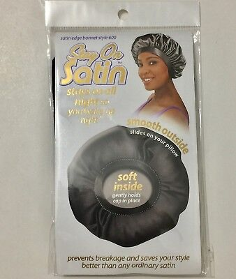 Satin Bonnet Stay On Sleeping Cap Hair Care Conditioner ...