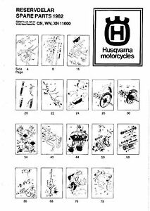 Husqvarna Parts Manual Book 1982 WR 125, CR 125, WR 240