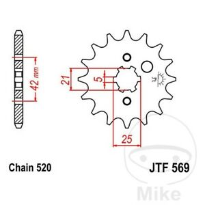JT Front Sprocket 15T 520 Pitch JTF569.15 Yamaha RD 350 LC