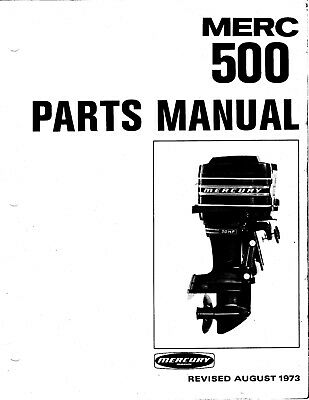 1973 Mercury Merc 500, 50 HP, 2858814 thru 4140999 Parts