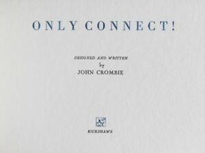 cheapest clearance John Crombie / Only Connect Designed