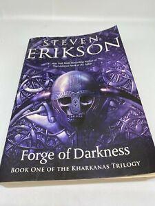 Kharkanas Trilogy : kharkanas, trilogy, FORGE, DARKNESS:, KHARKANAS, TRILOGY, NOVEL, Steven, Erikson, 9780765323637