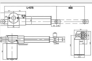 Mailing New 16 inch stroke linear actuator 1056LBS ACME