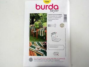 sewing patterns for patio chair cushions inflatable bean bag burda pattern 7266 back cushion table runner image is loading