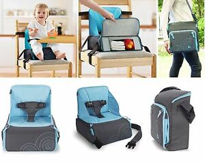 munchkin high chair gamer desk travel booster seat portable highchair with storage image is loading