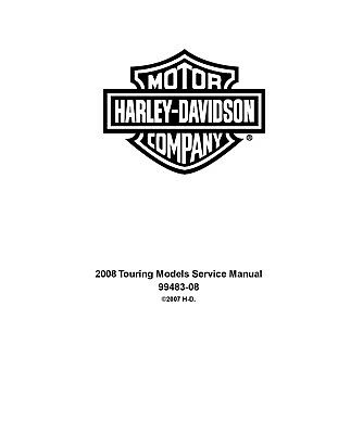 2008 HD Touring Models Factory Service Repair Workshop