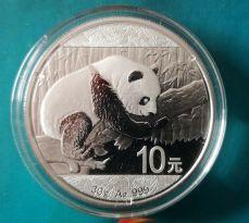 China 2016 | Panda 1 Unze Feinsilber Ag | 1 oz 999 Ag