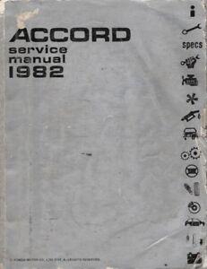 1982 Honda Accord OEM Factory Service Repair Maintenance