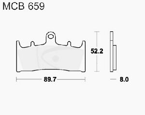 Brake Pads Carb Crq TRW Luc Front Mcb659crq Suzuki GSX R