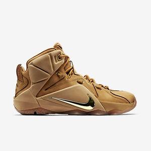 Nike LeBron 12 XII EXT Wheat Size 12. 744287-700 kyrie cork what the bhm elite 886061365919 | eBay