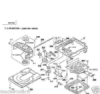 Kit Courroies K7 + CD pour mini chaine Sony HCDH51 HCD-H51