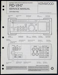 Kenwood RD-VH7 Original Amplifier/Tuner/CD Service Manual