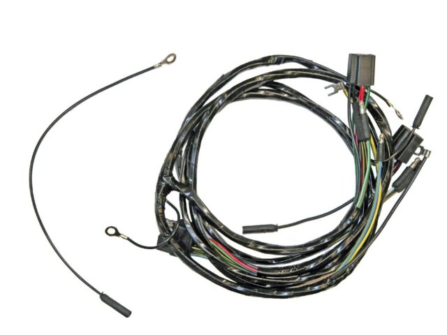 Mustang Head Light Wiring Harness With Lamps 1964.5