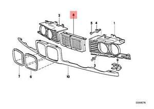 Genuine BMW 5 Series E34 Front Radiator Kidney Grille OEM
