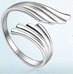 Ring 925 Sterling Silber plattiert grenverstellbar Engel Flgel stylisch cool  eBay