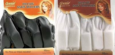 10 pcs pillow soft satin hair foam rollers curlers sleep sponge no pins needed ebay