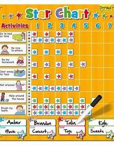Image is loading large magnetic star reward chart for up to also children good behavior rh ebay