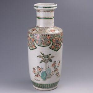"18"" (H) Antique Chinese Famille Verte Porcelain Vase"
