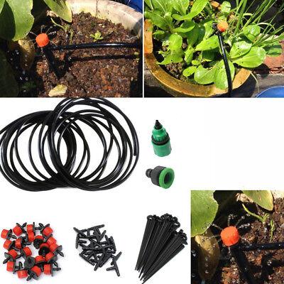 Manual Micro Drip Irrigation System Watering Hose Garden Plant Self DIY US   eBay
