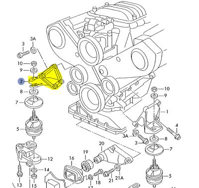 AUDI A4 A6 1996-02 2.8L 2.7L PASSENGER SIDE MOTOR MOUNT