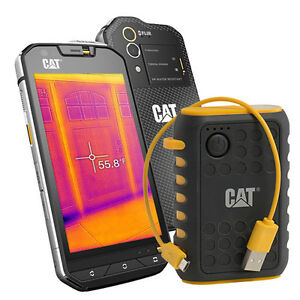 Caterpillar 32GB CAT S60 Waterproof unlocked Smartphone Power Bank Bundle