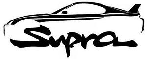 Classic Street Racer Supra Outline Silhouette Art Wall