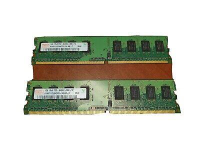 Hynix HYMP112U64CP8-S6 2x1Gb=2Gb PC2-6400 800Mhz DDR2 Desktop Memory RAM 642872885165   eBay