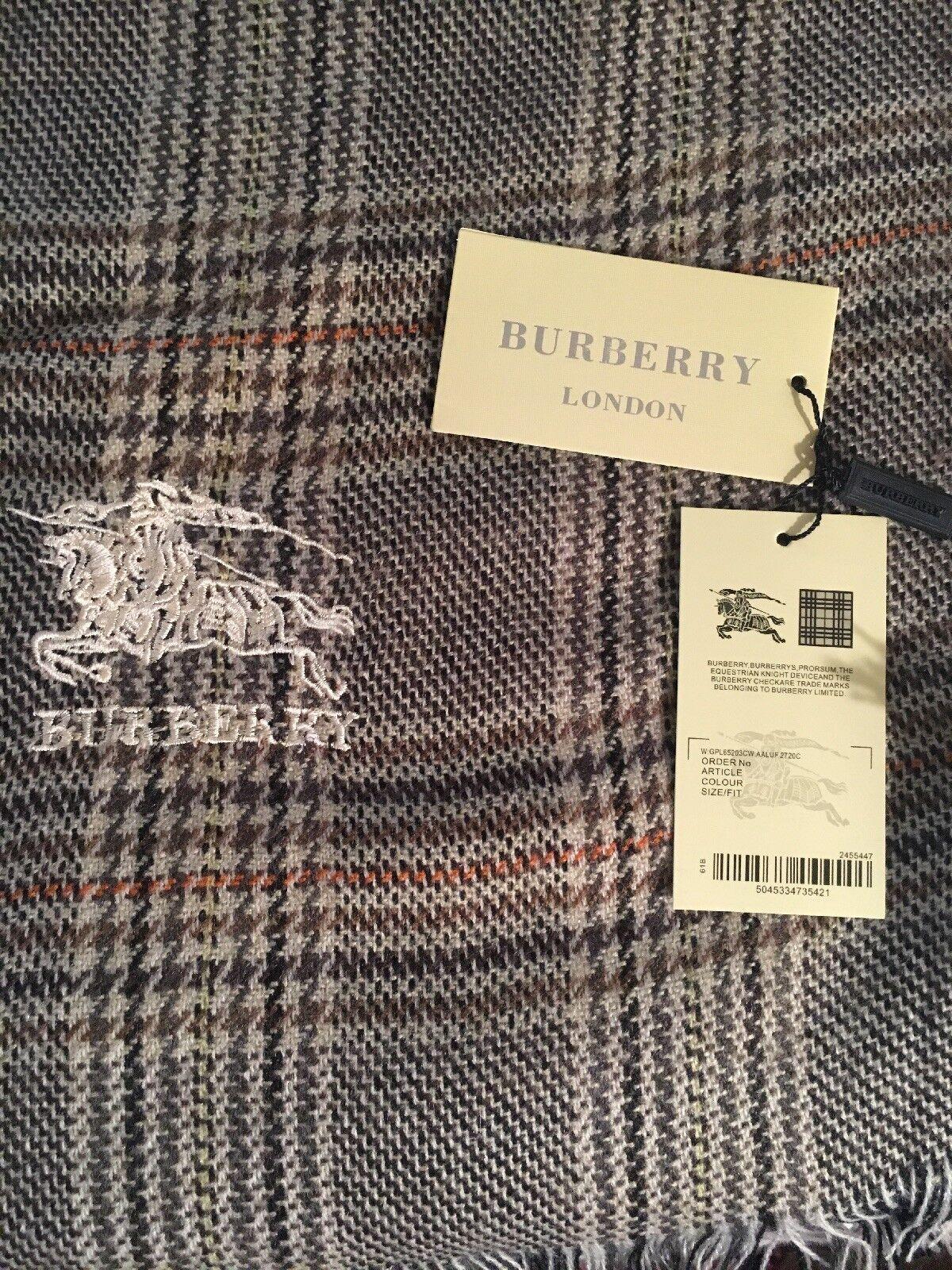 Burberry Scarf Tag : burberry, scarf, BURBERRY, Scarf, Plaid, Check, Cashmere, Scotland, 81x31, LUVLUV, Online