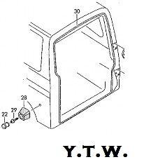 VW T4 REAR TAILGATE / BARN DOORS INNER RUBBER DOOR SEAL