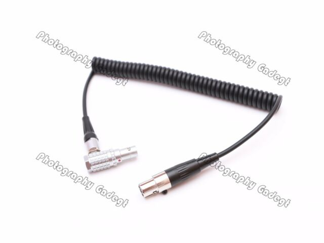 Power Cable 0B 2pin Male Angled to mini XLR 4pin Coiled