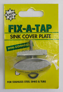 details about new fix a tap sink cover plate stainless steel 218209