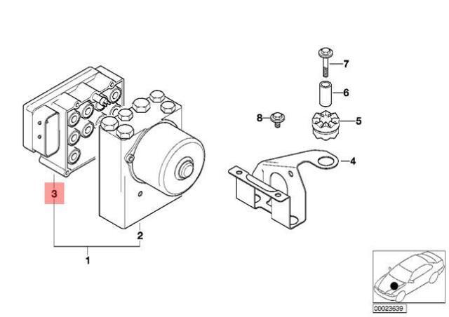 Genuine BMW E36 E46 Z3 Cabrio Asc Control Unit Repair Kit