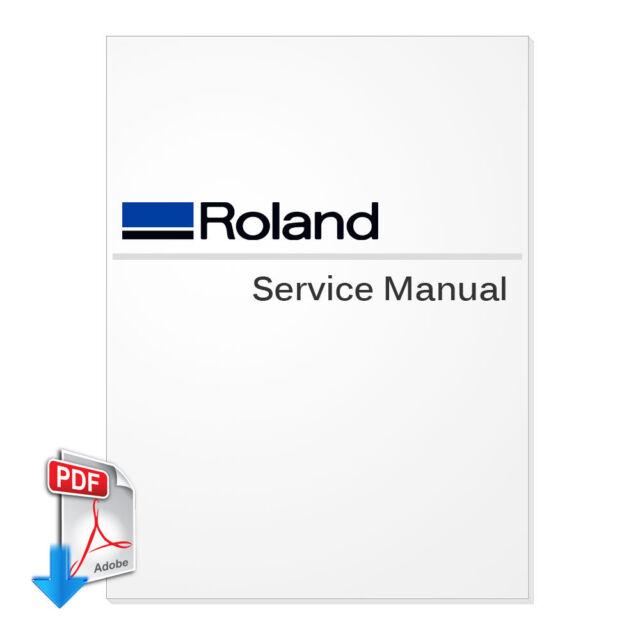ROLAND VersaCamm SP-300 / SP-300V English Service Manual