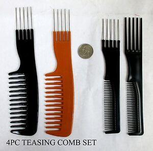1 2 4 pc teasing hair b brush set ebay