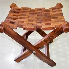 Folding Chair India Outdoor Covers Grey Sheesham Wood Mat Style Fishing Stool Hamdmade In Image Is Loading