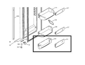 GE Arctica Refrigerator Fridge Shelf Insert Module Fixed