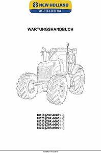 NEW Holland t8010 t8020 t8030 t8040 t8050 Repair Manual