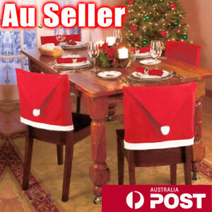 santa chair covers australia headrest suppliers 6x christmas dinner table hat home decorations image is loading